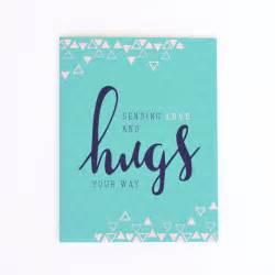 sympathy card sending hugs card by littleprintdesign