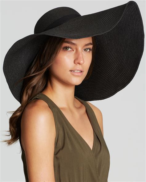The Big Black Hat by August Accessories Oversized Floppy Hat In Black Lyst
