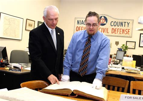 Niagara County Records Jastrzemski Makes Niagara County S History A Priority