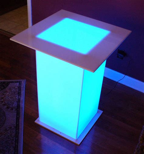 barchefs led light up tables for events