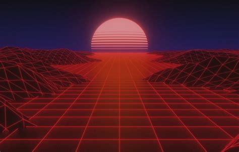 wallpaper  sun  stars neon space background