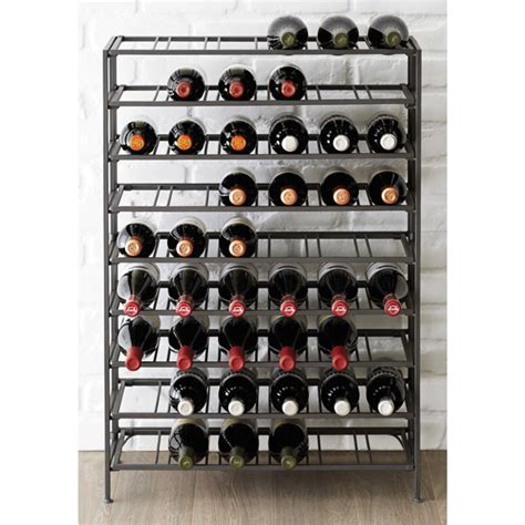 Kitchen Cabinet On Wheels by 54 Bottle Iron Folding Wine Rack The Container Store