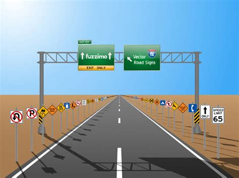 free vector road signs glossy or plain fuzzimo