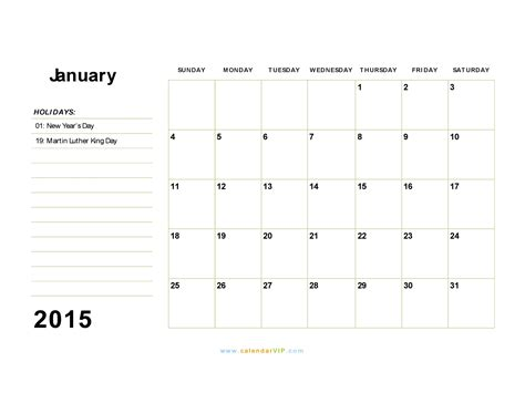 january 2015 day planner printable january 2015 calendar