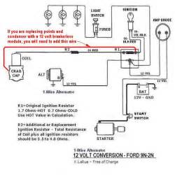 ford 8n tractor wiring diagram front distributor 1947 to