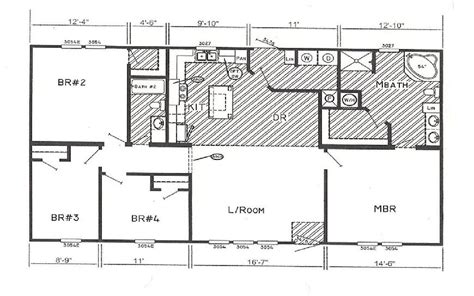4 bedroom double wide mobile home floor plans triple wide manufactured home floor plans 171 unique house plans