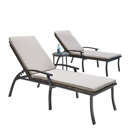 patio chaise lounge chairs home styles laguna black woven vinyl and metal patio