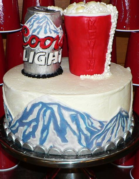 coors light birthday cake cakecentral