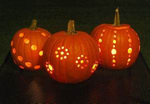drilled pumpkins diy pumpkin carving with a drill the garden glove