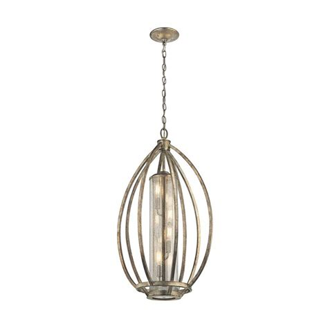 Shop Kichler Savanna 19 In Sterling Gold Hardwired Single Mercury Light Pendant