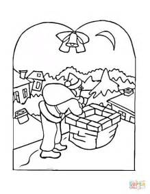 christmas village scenes coloring pages pictures to pin on