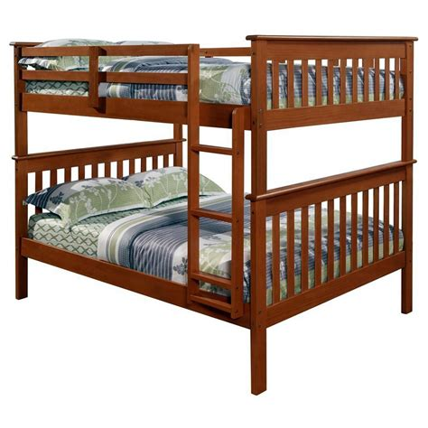 bunk bed lights luciana mission full over full bunk bed light espresso