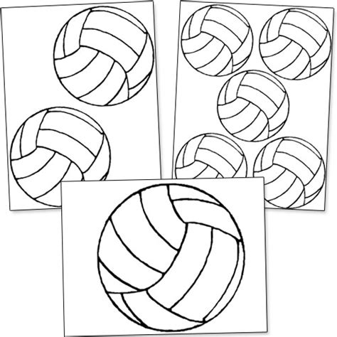 free printable volleyball tags volleyball outline printable images