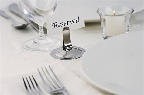 fancy place setting elegant place setting with quot reserved quot sign msclipart