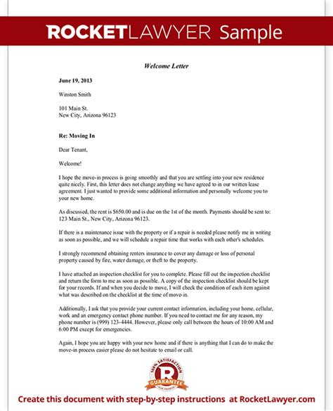 welcome letter template free welcome letter with sle