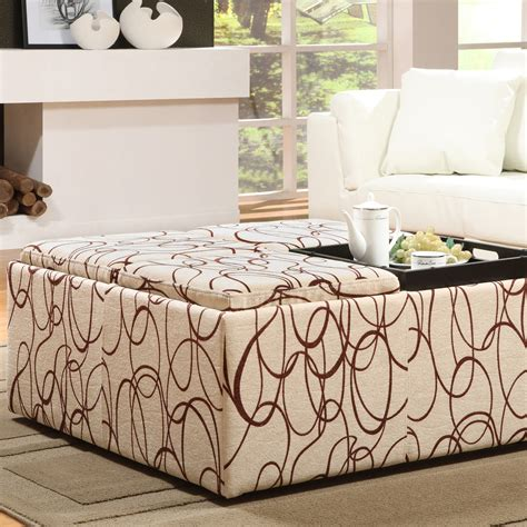 Furniture Tufted Coffee Table Oversized Ottoman Coffee Oversized Ottoman With Storage