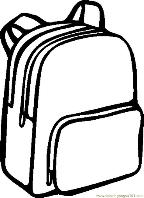 Backpack Coloring Page coloring pages backpack 06 education gt school free printable coloring page