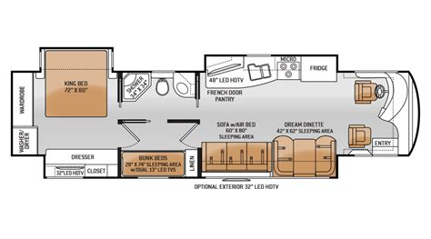 bunk bed rv floor plans rv floor plans with bunk beds