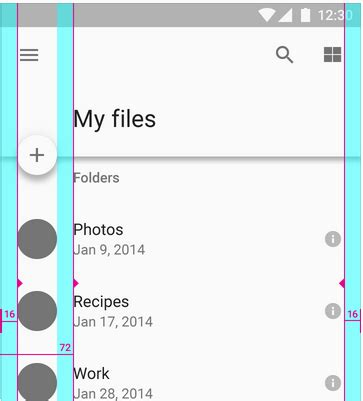 android studio layout margin android material design left margins for action bar