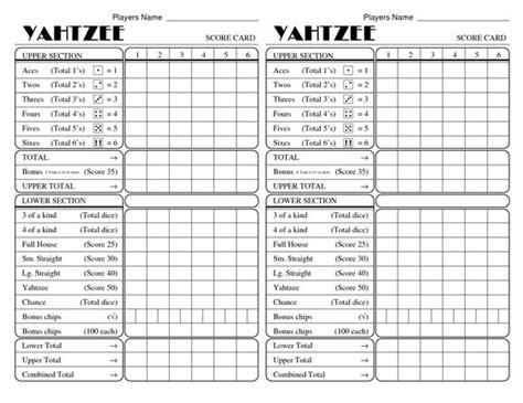 printable yahtzee score sheets yatzee printable score sheets yahtzee score card all