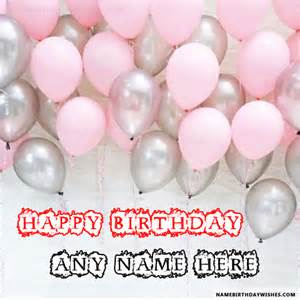 birthday balloons wishes with name