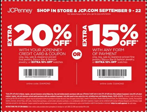 jcpenney outlet coupons printable sep 09 2015 jcpenney shopping with in store printable
