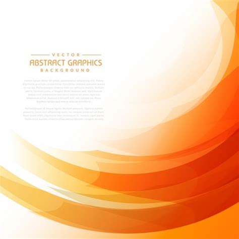 orange and black background design vector free download orange wavy background with abstract shapes vector free