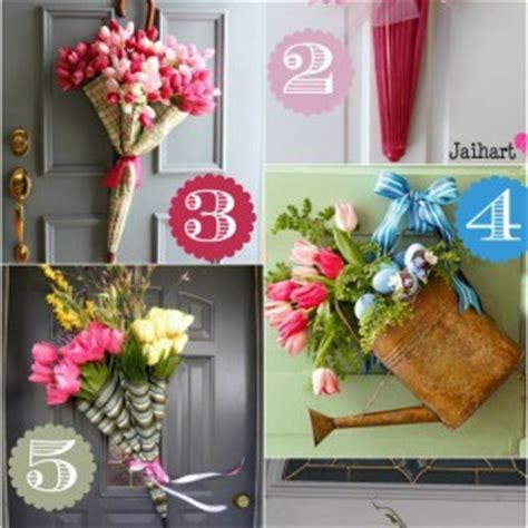 36 creative front door decor ideas not a wreath home spring porch decorating ideas