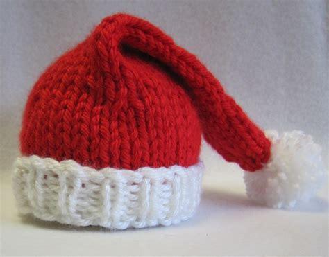 knitting pattern christmas hat sea trail grandmas preemie and newborn santa hat knit pattern