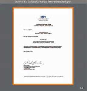 Compliance Statement Template by Hyrax Sdn Bhd Certificate