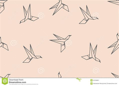 Origami Bird Pattern - origami bird seamless pattern stock vector image 53766851