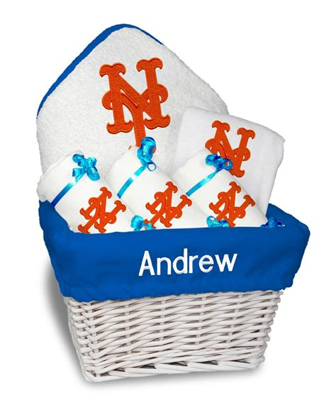 unique gifts for mets fans personalized new york mets medium gift basket mlb baby gift