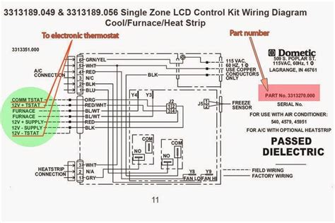 dometic lcd thermostat wiring diagram efcaviation