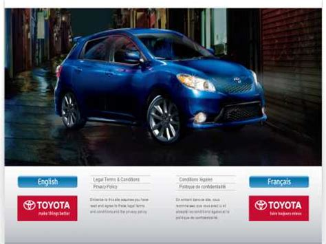 toyota official website toyota ca toyota canada inc official website