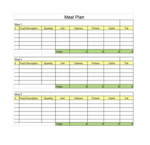 Meal Menu Template by 40 Weekly Meal Planning Templates Template Lab