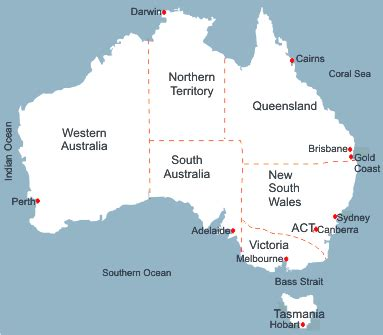 map of australia with capital cities map of australia