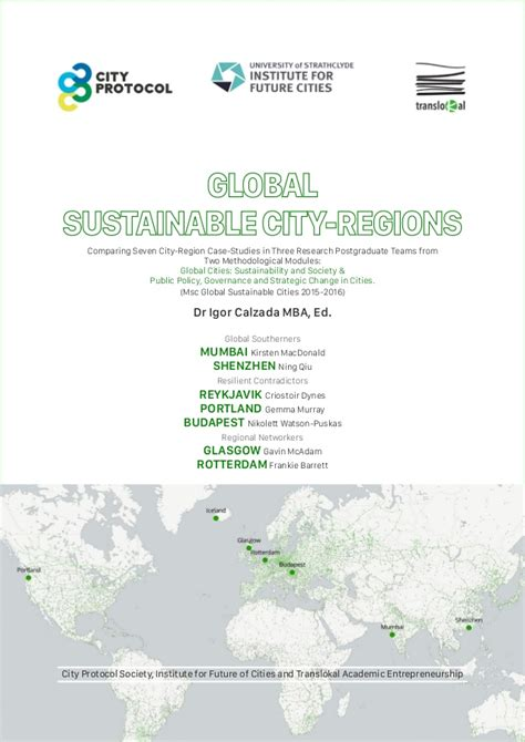 Global Green Mba by Global Sustainable City Regions Calzada I Ed Et Al