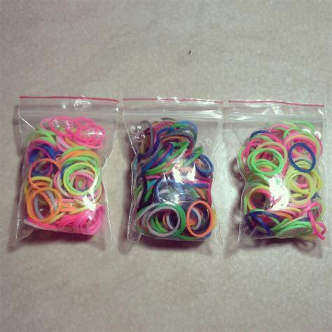 Karet Jepang Warna Warni Ikat Rambut jual rainbow loom bands gelang karet pelangi diy refill warna warni cur transparan bening