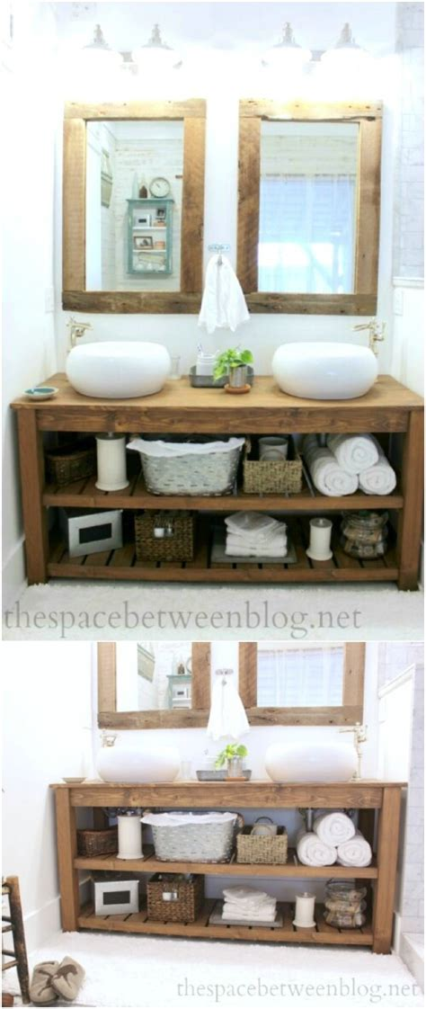 Diy Wood Vanity by 20 Gorgeous Diy Bathroom Vanities To Beautify Your