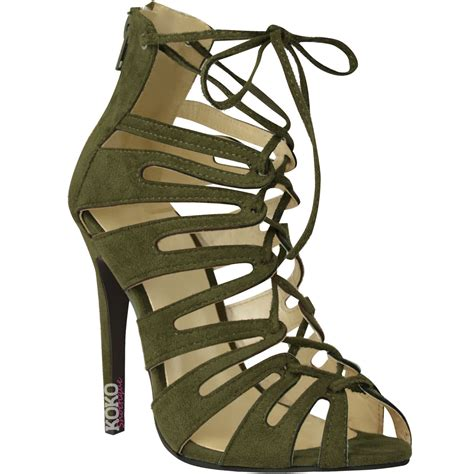 strappy lace up high heels womens lace up high heels stiletto ankle strappy