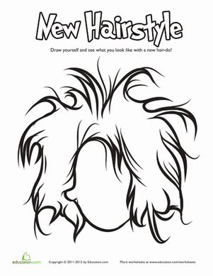 crazy hair coloring pages coloring pages
