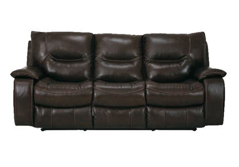 giovani brown genuine leather reclining sofa set