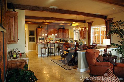 open plan kitchen area stock images image