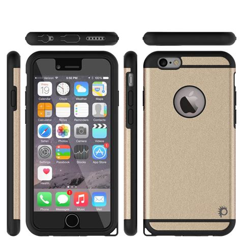 Iphone 6 6s Puregear Px360 Protection Soft Armor Tpu iphone 6s 6 punkcase galactic gold series slim