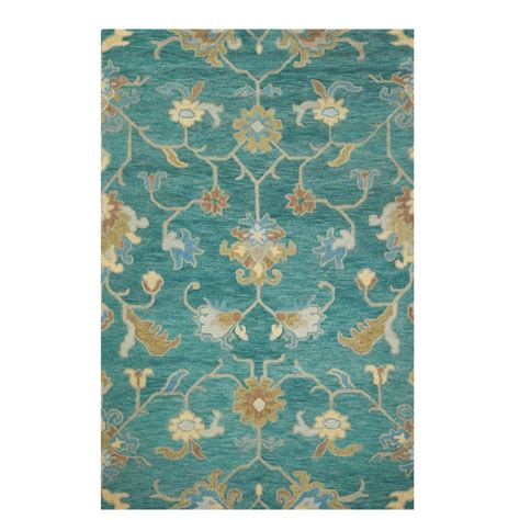 home decorators collection montpellier teal 3 ft x 5 ft