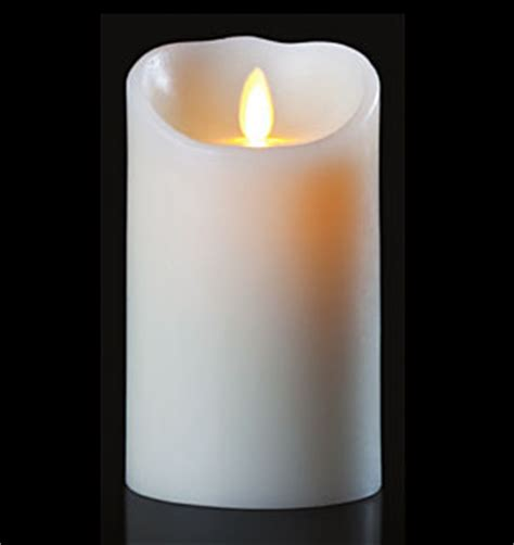 Battery Operated Candles - moving white candle battery operated 3 5 x 7 timer