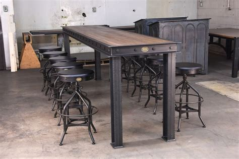 industrial bar height table 1000 ideas about bar height table on business