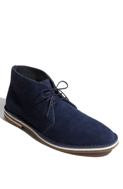 cole haan paul winter chukka boot in blue for navy