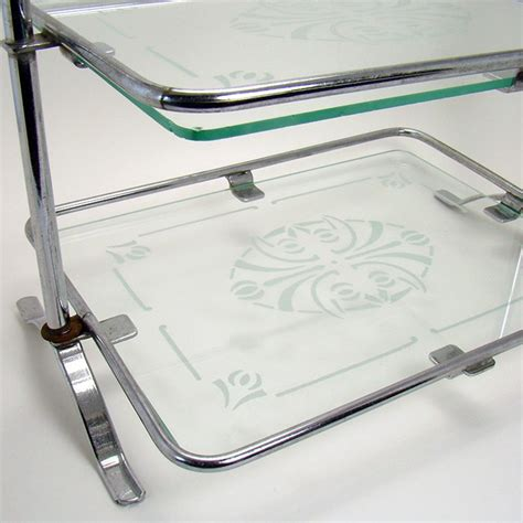 2 Tier Glass Vanity Tray by Two Tier Dresser Tray With Glass Inserts Dtr Antiques