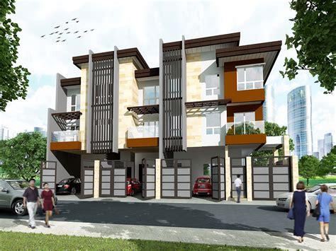 Modern Townhouse Plans by 3 Storey 3 Unit Townhouse Rabbi Chester Miranda Archinect